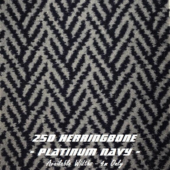 Herringbone Platinum: Covergirl Marine Trimming